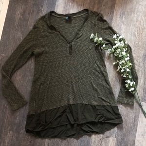 Left of Center | Olive Green Thermal Top